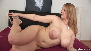Busty young Tiana fuck a large dildo 8 min