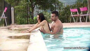 Fucking like romantics in the pool