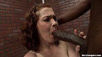 Cute MILF Takes A Big Black Dick In Her Hairy Pussy!