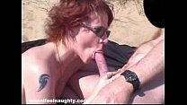 Robin Pleasures Cock with her Mouth