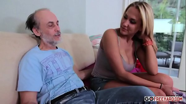 Alanah Rae Dirty Old Man Lucks Out;