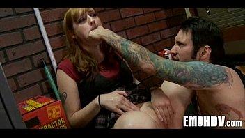 Goth emo angel with tattoos 042