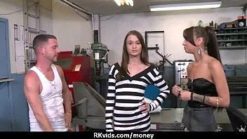 Amateur girl accepts cash for sex from stranger 13