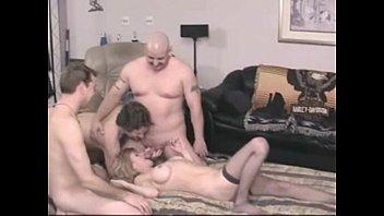 Amateur Bi party - 4 men & 1 lucky woman
