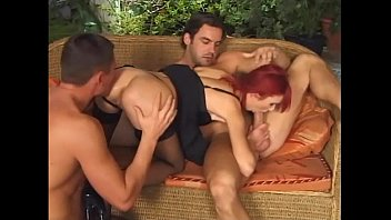 Skinny redhead dped in stockings and panties