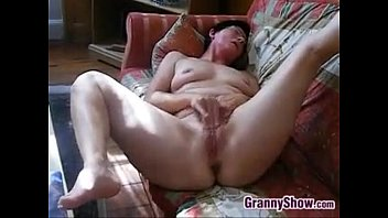 Horny Granny Rubs Her Clit And Pussy