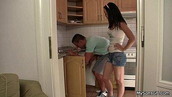 Older man lures hot son's girl