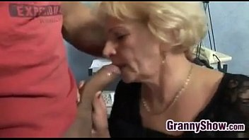 Horny Grandma In Fishnets Wants To Fuck