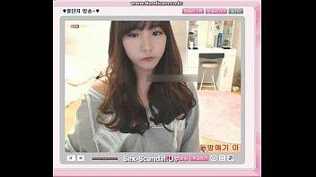 Pretty korean girl recording on camera 6