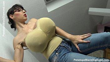 Penelope Black Diamond - Milking Tits - breastfeeding Boobs   Preview 2 min