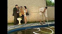Realtor poolside gangbanged by buyers