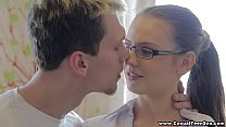 Casual Teen Sex - Casual sex with college teen porn nerd Timea Bella
