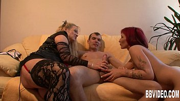 Young couple fucking for a horny german milf