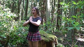 Cheerleader fucked in the woods - Erin Electra