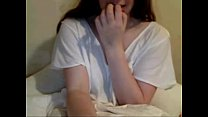 Cam shows lovely breasts shyly