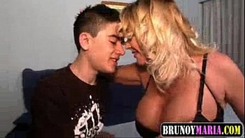 Young guy fucked Mature blonde