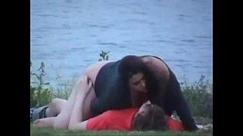 couple love making at lake.mp4