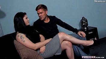 PURE XXX FILMS Hot Busty brunette Lucia Love enjoys big dick