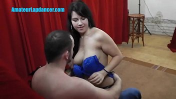 Busty TEEN boasts with big tits during lapdancing