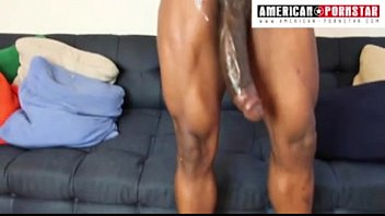 14 inch Monster Meat Julio Gomez gets his Massive pole stroked in his first porn