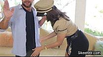 Fucking big tit cop in uniform