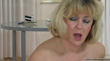 Blonde Mature Mom with young boy