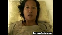 Asian wife with hairy pussy gets fucked
