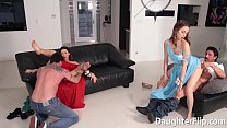 Beautiful chicks suck the dick of and fucked by their stepdads in this deviant XXX scene.