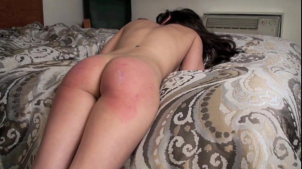 Casey Calvert paddled across bareass by her Daddy