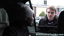 Black cock riding twink