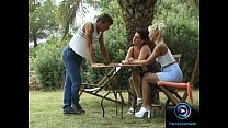 Horny chicks enjoys wild threesome together with a hung dude