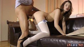 Jizz older stockings brit 10 min