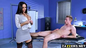Dr Ava Adams soothes Bill Baileys cock with a blowjob