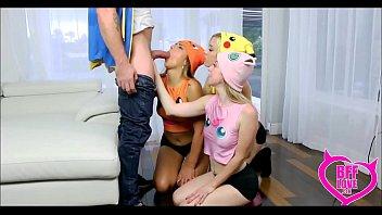 3 Tiny Teen Poke Mon Girls Fuck Their Master