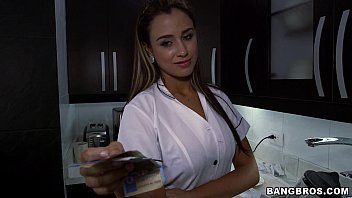 Pretty Colombian maid