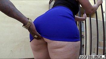 Fat ass brunette lady Virgo tries interracial anal sex
