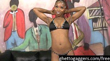 Ebony Model Azaelia Sucks White Dicks