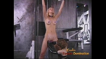 Desirable blonde playgirl enjoys being spanked hard by a brunette hussy
