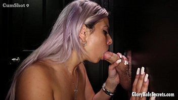 Gloryhole Secrets Jewish milf sucking dick 15 min