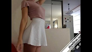 Can you guess what behind the skirt? full video come playwithcam.com