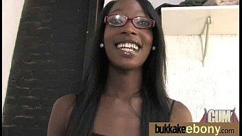 Ebony gets fucked in all holes by a group of white dudes 25