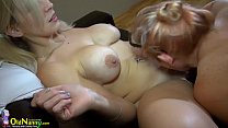 OldNannY Old Chubby And Teen Lesbian Masturbation