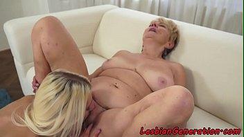 Mature pleasured orally by beautiful lesbian 6 min