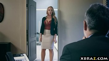 Office MILF hooks on the side and the boss wants a piece