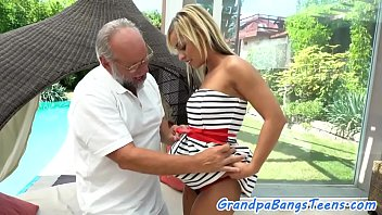 Exotic tanned teen gets a huge load