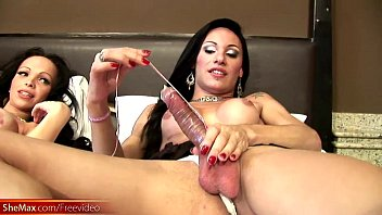 Shemale hotties are anal riding girl shafts in wild fuckfest