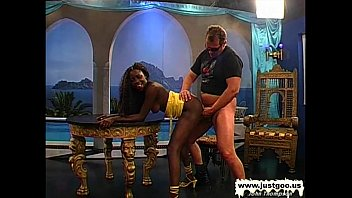 Black Babe Stacy screams for white cock - German Goo Girls 12 min
