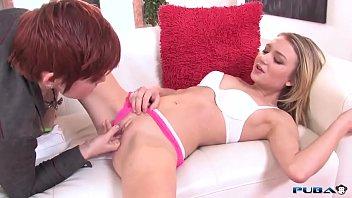 Dakota Skye and Lily Cade lesbian Strapon