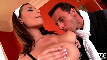Busty French Maid goes crazy for her Bosses Big Dick!