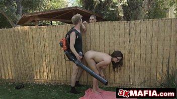 Bored Sneaky MILF Ariella Ferrera Fucking a Gardener When Husband Isn't Looking